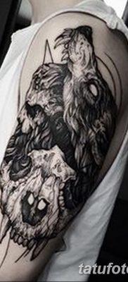фото тату черный волк от 13.09.2017 №022 – black wolf tattoo – tatufoto.com