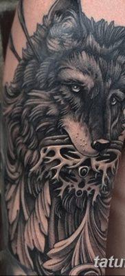 фото тату черный волк от 13.09.2017 №023 – black wolf tattoo – tatufoto.com