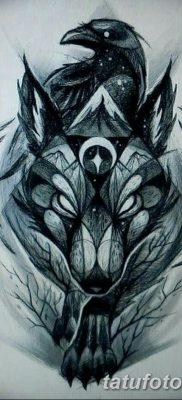 фото тату черный волк от 13.09.2017 №024 – black wolf tattoo – tatufoto.com