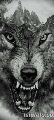 фото тату черный волк от 13.09.2017 №029 – black wolf tattoo – tatufoto.com