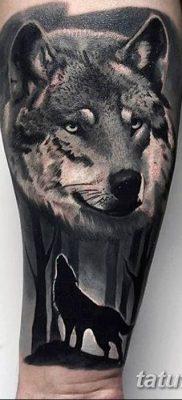 фото тату черный волк от 13.09.2017 №030 – black wolf tattoo – tatufoto.com