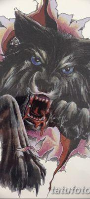 фото тату черный волк от 13.09.2017 №032 – black wolf tattoo – tatufoto.com