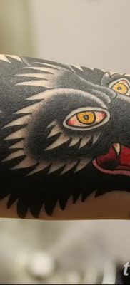 фото тату черный волк от 13.09.2017 №033 – black wolf tattoo – tatufoto.com