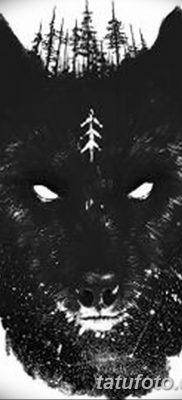 фото тату черный волк от 13.09.2017 №036 – black wolf tattoo – tatufoto.com