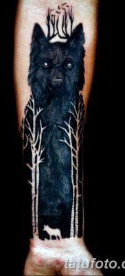 фото тату черный волк от 13.09.2017 №040 – black wolf tattoo – tatufoto.com