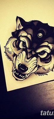 фото тату черный волк от 13.09.2017 №041 – black wolf tattoo – tatufoto.com