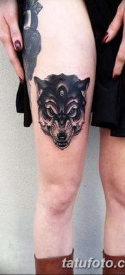 фото тату черный волк от 13.09.2017 №054 – black wolf tattoo – tatufoto.com