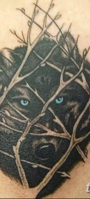 фото тату черный волк от 13.09.2017 №056 – black wolf tattoo – tatufoto.com