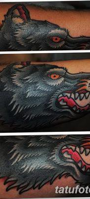 фото тату черный волк от 13.09.2017 №059 – black wolf tattoo – tatufoto.com