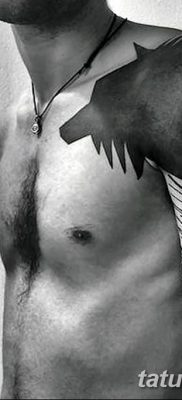фото тату черный волк от 13.09.2017 №060 – black wolf tattoo – tatufoto.com