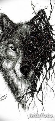 фото тату черный волк от 13.09.2017 №063 – black wolf tattoo – tatufoto.com