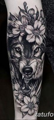 фото тату черный волк от 13.09.2017 №064 – black wolf tattoo – tatufoto.com