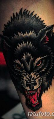 фото тату черный волк от 13.09.2017 №066 – black wolf tattoo – tatufoto.com