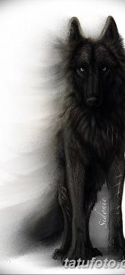 фото тату черный волк от 13.09.2017 №073 – black wolf tattoo – tatufoto.com