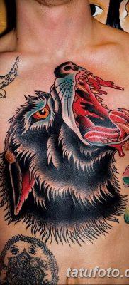 фото тату черный волк от 13.09.2017 №075 – black wolf tattoo – tatufoto.com