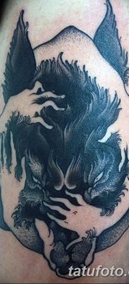 фото тату черный волк от 13.09.2017 №076 – black wolf tattoo – tatufoto.com