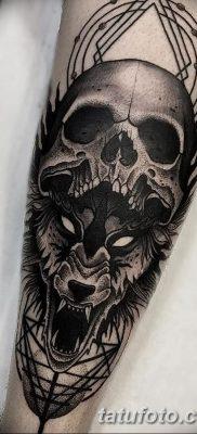 фото тату черный волк от 13.09.2017 №077 – black wolf tattoo – tatufoto.com