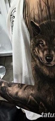 фото тату черный волк от 13.09.2017 №081 – black wolf tattoo – tatufoto.com