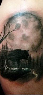 фото тату черный волк от 13.09.2017 №089 – black wolf tattoo – tatufoto.com