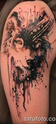 фото тату черный волк от 13.09.2017 №101 – black wolf tattoo – tatufoto.com