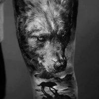 Значение тату черный волк