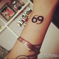 Значение тату «69»