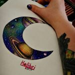 фото эскизы для тату космос от 26.09.2017 №003 - sketches for tattoo space - tatufoto.com