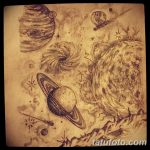 фото эскизы для тату космос от 26.09.2017 №004 - sketches for tattoo space - tatufoto.com