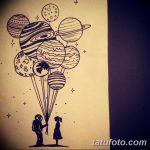 фото эскизы для тату космос от 26.09.2017 №006 - sketches for tattoo space - tatufoto.com