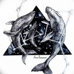 фото эскизы для тату космос от 26.09.2017 №009 - sketches for tattoo space - tatufoto.com