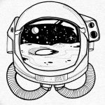 фото эскизы для тату космос от 26.09.2017 №010 - sketches for tattoo space - tatufoto.com