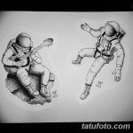 фото эскизы для тату космос от 26.09.2017 №011 - sketches for tattoo space - tatufoto.com