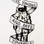 фото эскизы для тату космос от 26.09.2017 №012 - sketches for tattoo space - tatufoto.com