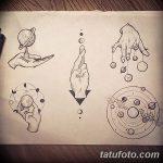 фото эскизы для тату космос от 26.09.2017 №017 - sketches for tattoo space - tatufoto.com