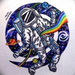 фото эскизы для тату космос от 26.09.2017 №024 - sketches for tattoo space - tatufoto.com
