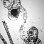 фото эскизы для тату космос от 26.09.2017 №025 - sketches for tattoo space - tatufoto.com