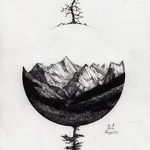фото эскизы для тату космос от 26.09.2017 №028 - sketches for tattoo space - tatufoto.com