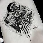 фото эскизы для тату космос от 26.09.2017 №038 - sketches for tattoo space - tatufoto.com