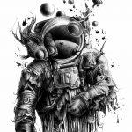 фото эскизы для тату космос от 26.09.2017 №043 - sketches for tattoo space - tatufoto.com