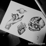 фото эскизы для тату космос от 26.09.2017 №044 - sketches for tattoo space - tatufoto.com