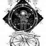 фото эскизы для тату космос от 26.09.2017 №046 - sketches for tattoo space - tatufoto.com