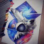 фото эскизы для тату космос от 26.09.2017 №050 - sketches for tattoo space - tatufoto.com