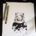фото эскизы для тату космос от 26.09.2017 №056 - sketches for tattoo space - tatufoto.com