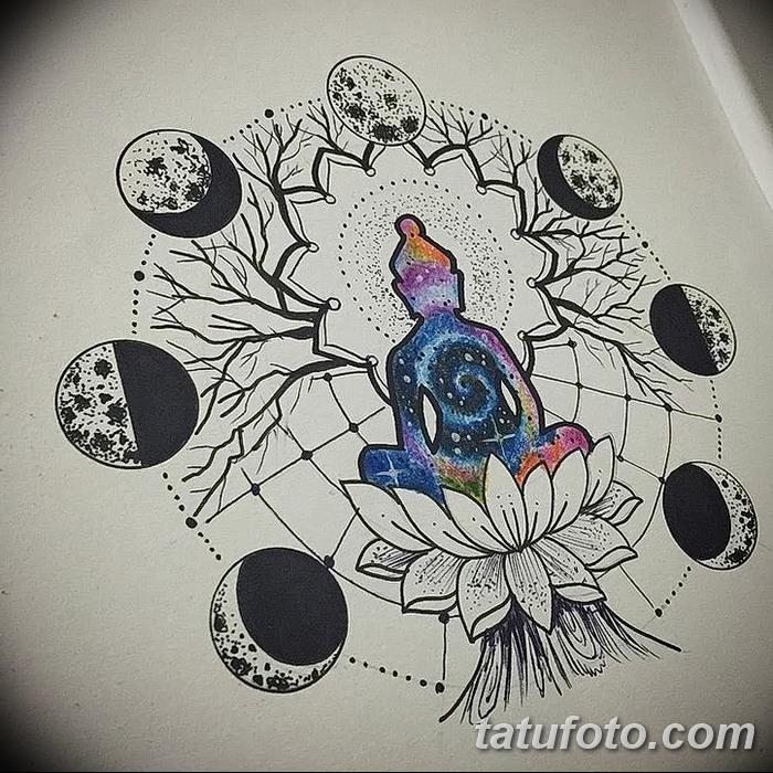 фото эскизы для тату космос от 26.09.2017 №067 - sketches for tattoo space - tatufoto.com