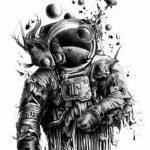 фото эскизы для тату космос от 26.09.2017 №070 - sketches for tattoo space - tatufoto.com