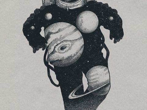 фото эскизы для тату космос от 26.09.2017 №076 - sketches for tattoo space - tatufoto.com