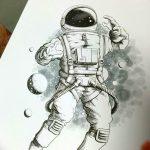 фото эскизы для тату космос от 26.09.2017 №078 - sketches for tattoo space - tatufoto.com