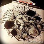 фото эскизы для тату космос от 26.09.2017 №080 - sketches for tattoo space - tatufoto.com