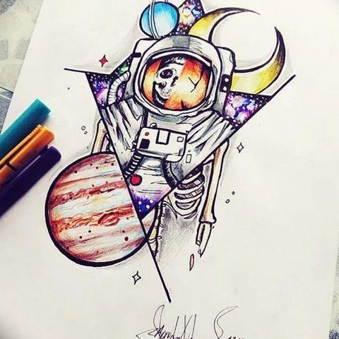 Рисунки космос тату