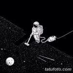 фото эскизы для тату космос от 26.09.2017 №092 - sketches for tattoo space - tatufoto.com